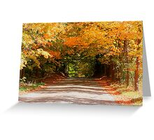 Fall Road Home Greeting Card