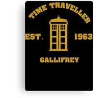 Doctor Who Time Traveller Gallifrey Canvas Print