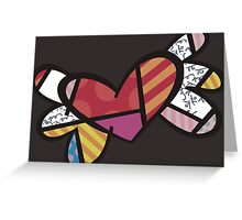 Romero Britto The Winged Heart Greeting Card
