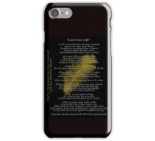 """Live Your Life""  Golden feather by Chief Tecumseh iPhone Case/Skin"