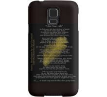 """""""Live Your Life""""  Golden feather by Chief Tecumseh Samsung Galaxy Case/Skin"""
