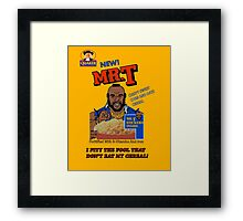 Mr. T Cereal  Framed Print