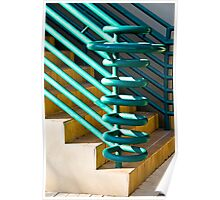 Rails And Stairs Poster