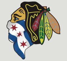 Blackhawks Chicago Flag by Vinferbet