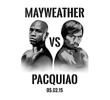 Mayweather VS Pacquiao 2015 Photographic Print