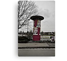 Advertising on the Streets Canvas Print