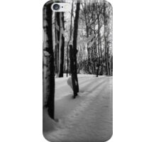 Japanese Winter, streaming through the trees iPhone Case/Skin
