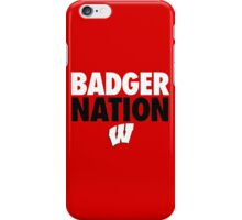 Wisconsin Badgers Basketball  iPhone Case/Skin