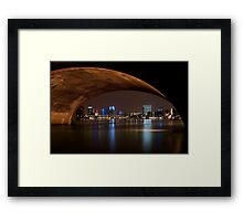Frankfurt by Night Framed Print