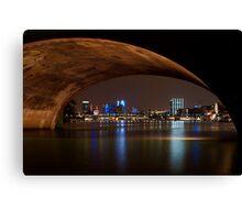 Frankfurt by Night Canvas Print
