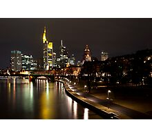 Frankfurt by Night Photographic Print
