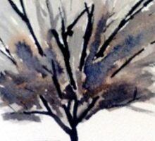 Monochrome Tree Sticker