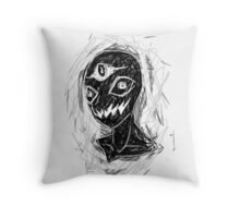 Three eyes watching  Throw Pillow