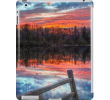 Sundown Pond and Fence iPad Case/Skin