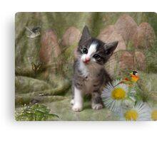 A Kittens Dream Canvas Print