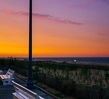 Evening at Rehoboth Beach by Chee Sim