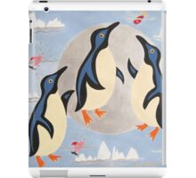 Penguins Playing with the Moon iPad Case/Skin