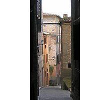 Via Benincasa, Centro Storico, Perugia, Italy Photographic Print