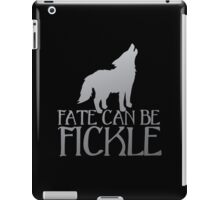 FATE CAN BE FICKLE with howling wolf iPad Case/Skin