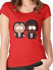 South Park Pulp Fiction Women's Fitted Scoop T-Shirt