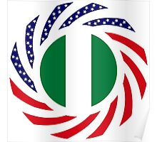 Nigerian American Multinational Patriot Flag Series Poster