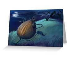 Slashing Pumpkins Greeting Card