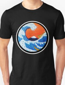 Sunset Hokusai Wave Larger Version Unisex T-Shirt