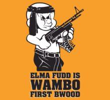 Elmer Fudd is Wambo First Bwood T-Shirt