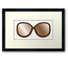 Cute vintage brown hipster 70s glasses Framed Print