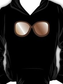 Cute vintage brown hipster 70s glasses T-Shirt