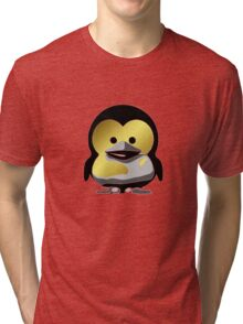 Linux Baby Tux d'Or Tri-blend T-Shirt