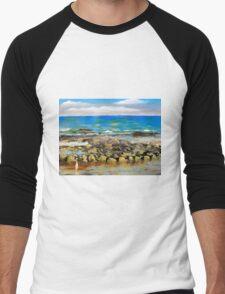 Corrimal Beach near Towradgi Pool Men's Baseball ¾ T-Shirt