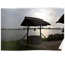 River IJssel Early Morning View Poster