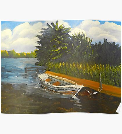 Boat on Norford Broads Poster