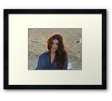 Tina @ Sunset Framed Print