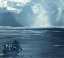 Approaching Tahiti by Carole Boudreau