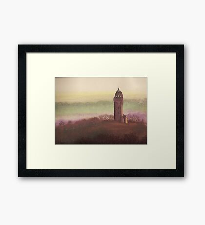 Wallace Monument, Stirling, Scotland Framed Print