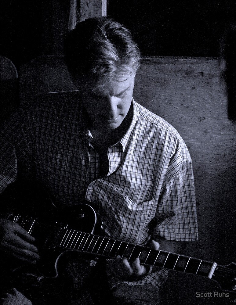 Greg With A Guitar by Scott Ruhs