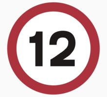 Speed Limit 12 Road Sign by ukedward