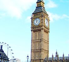 Big Ben And London Eye by rumisw