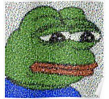 Sad Pepe Collage Poster