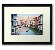 Water ways of Venice Framed Print