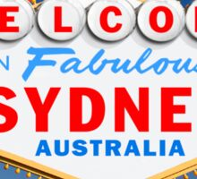 Welcome to Fabulous Sydney Sign Sticker