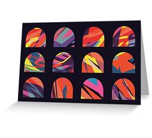 Multicoloured domes Greeting Card