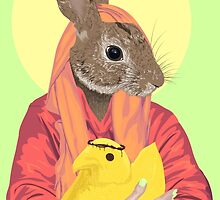 Virgin Bunny and Baby Peepsus by Brieana