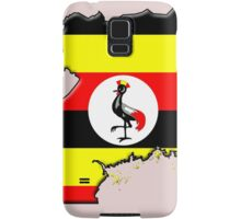 Ugandan flag and outline Samsung Galaxy Case/Skin