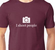 I shoot people - White Unisex T-Shirt