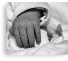 Baby Hand Canvas Print