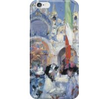 Francis Campbell Boileau Cadell (Scottish, 1883-1937), Florian's Café, Venice iPhone Case/Skin