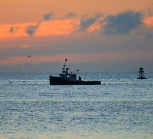 Fishing Boat At Dawn by HALIFAXPHOTO